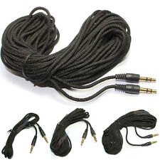 TRS Black Woven Male to Male AUDIO CABLE  3m 9.8ft 5m 16.4ft 7m 23ft 10m 32.8ft