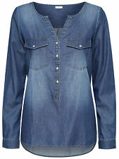 JDY by ONLY Ladies Jeans SHIRT Blouse Tunic WYRE LS PLACKET DENIM SHIRT WVN