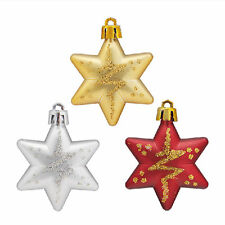 5pcs Christmas Tree Stars Decorations Baubles X'mas Party Wedding Ornament DIY