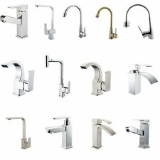 Modern Kitchen Basin Faucet Sink Tap 360°Swivel Brass Chrome Spout Tap Mixer Tap
