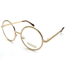 Vintage Classic Super Oversized Round Circle Frame Clear Lens Glasses Eyeglasses