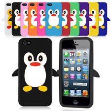iPhone 5 Penguin Design Silicone Case Cover + Free Screen Protector