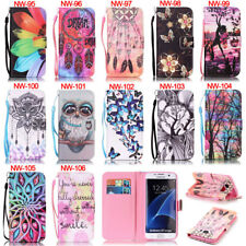 Owl ID Wallet Leather Flip Case Cover For Samsung Galaxy S5 S6 S7 Edge A310 A510
