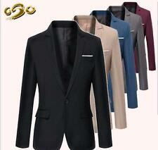 Stylish Formal Mens Men Slim Fit One Button Suit Blazer Business Coat Jacket Top
