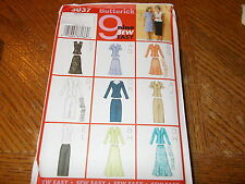 Butterick Pattern 3037 Ms 9 Styles of EZ Top, Skirt & Scarf