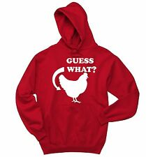 Guess What Chicken Butt Funny Sweatshirt Graphic Tee Cock Rooster Hoodie