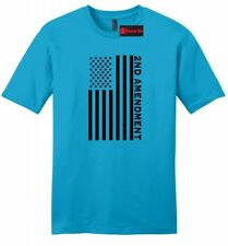 Second 2nd Amendment American Flag Mens Soft T Shirt Patriotic Gun Rights Tee Z2