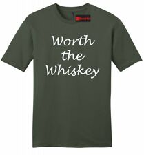 Worth The Whiskey Mens Soft T Shirt Cute Country Song Music Redneck Gift Tee Z2