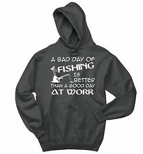 Bad Day Fishing Better Day Work Funny Fishing Sweatshirt Fishing Gift Hoodie