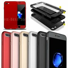 HOT Hard Ultra thin 360° Full Protective Case + Tempered Glass Cover For iPhone