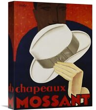'Chapeaux Mossant, 1928' by Olsky Vintage Advertisement on Wrapped Canvas