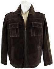 Camel active - Men's Leather Jacket Genuine Leather Suede brown new 6685