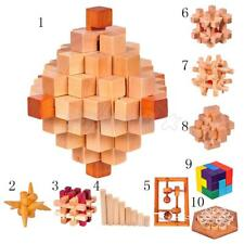 Wooden Kongming Luban Lock Puzzles Toys Good Gifts for Children Brain Training