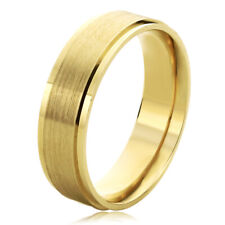 Men Women 14K Yellow Gold 6mm Satin Finished Wedding Band Ring / Gift Box