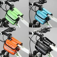 Waterproof Cycling Frame Bike Front Tube Double Side Riding Bag Bicycle  Pouch