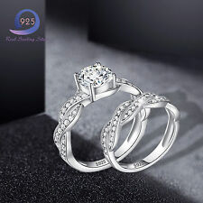 Merthus Promise White CZ 925 Sterling Silver Ring Wedding Jewlery Lover Gifts