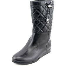 Michael Michael Kors Lizzie Quilted Mid Boot Women  Leather Black NWOB