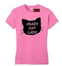 Crazy Cat Lady Funny Juniors T Shirt Cat Lover Kitten Meow Holiday Gift Tee