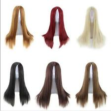 Hot Full Wig Long Straight Wig Cosplay Party Costume Anime Full Hair Wigs Party