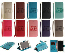 For Mobile Phones Stand Panda Flip Leather Wallet Card Holder W/Strap Case Cover