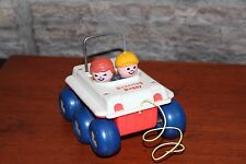 Vintage Fisher Price Pull Toy Bouncing Buggy #122