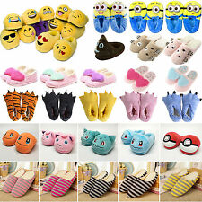 Cartoon Pokemon Emoji Plush Stuffed Slippers Plush Shoes Soft Warm Home Slippers