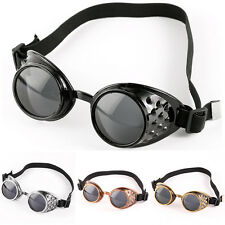 Cyber Goggles Steampunk Glasses Vintage Retro Welding Punk Gothic Victorian 1PCS