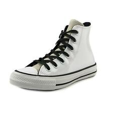 Converse Chuck Taylor All Star Leather Hi Women  Round Toe White Sneakers