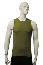 Mens EASY Vest Tank Top Olive Green Size M to XL MV08