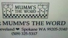MUMM'S THE WORD -  DEBBIE MUMM - YOUR CHOICE OF QUILT & OTHER PATTERNS!