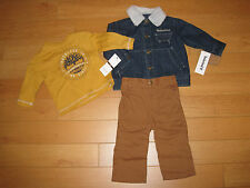 NWT Boys Timberland 3 Piece Set (Retail $59.50)