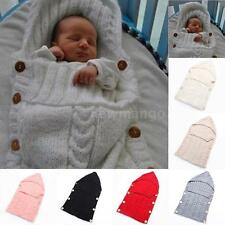 Swaddle Wrap Baby Blanket Newborn Infant Knit Crochet Cotton Sleeping bag S7W7