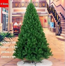 (6-8FT) New Artificial Christmas Tree Green with Metal Stand Xmas Decoration US