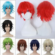 Unisex Male Female Straight Short Hair Wig Cosplay Party Anime Costume Full Wigs