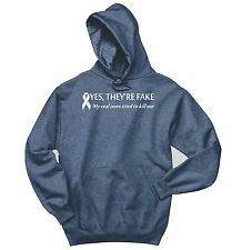 They're Fake Real Ones Tried To Kill Me Breast Cancer Sweatshirt Gift Hoodie