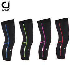 CHEJI Reflective Cycling Leg Warmers Bike Knee Protection Bicycle Leg Warmers