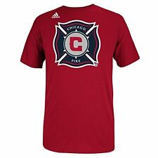 Chicago Fire Adidas MLS Primary Logo Soccer Men's Red T-Shirt NEW