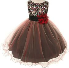 Sleeveless Multi Sequin Trio Little Girl Special Occasion Dress