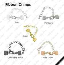 [HS] Jewelry Findings - Cord Closures - Ribbon Crimps 7mm
