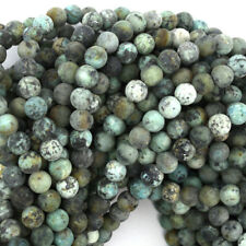 """Matte African Turquoise Round Beads Gemstone 15"""" Strand 4mm 6mm 8mm 10mm 12mm"""