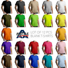 AAA Alstyle Assorted Color Blank Plain T-Shirts Cotton Tees Screen Print *Lot 12
