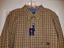 Mens CHAPS EASY CARE Long Sleeve Cotton Blend Plaid Button-Front Shirt XL NWT's