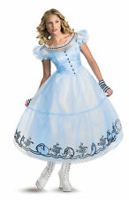 Alice In Wonderland Movie Deluxe Costume Adult Womens Fancy Dress Disguise