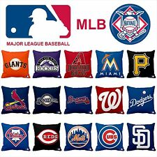 "Handmade 14"" Satin Pillow Case MLB NATIONAL LEAGUE BASEBALL Teams"