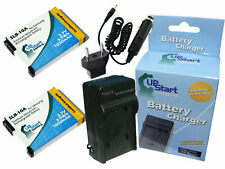 2x Battery +Charger +Car Plug +EU Adapter for Samsung WB800F, l200, SL502, WB150