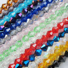 20-200Pcs Mixed Faceted Rondelle Czech Glass Crystal Bicone Spacer Beads 4/6/8mm