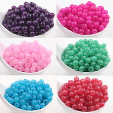 5/200Pcs Glass Jade Round Loose Spacer Beads Neckalce Bracelet Accessory 6mm