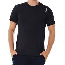 Reebok Mens Playdry® SE Tech Top T-Shirt Fitness Running Gym Black NEW