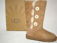 UGG Australia Bailey Button Triplet Tall Boots Chestnut Size 6-10 NEW !!