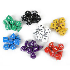 Set of 7 Sided Die D4 D6 D8 D10 D12 D20 DUNGEONS&DRAGONS D&D RPG Game Dice